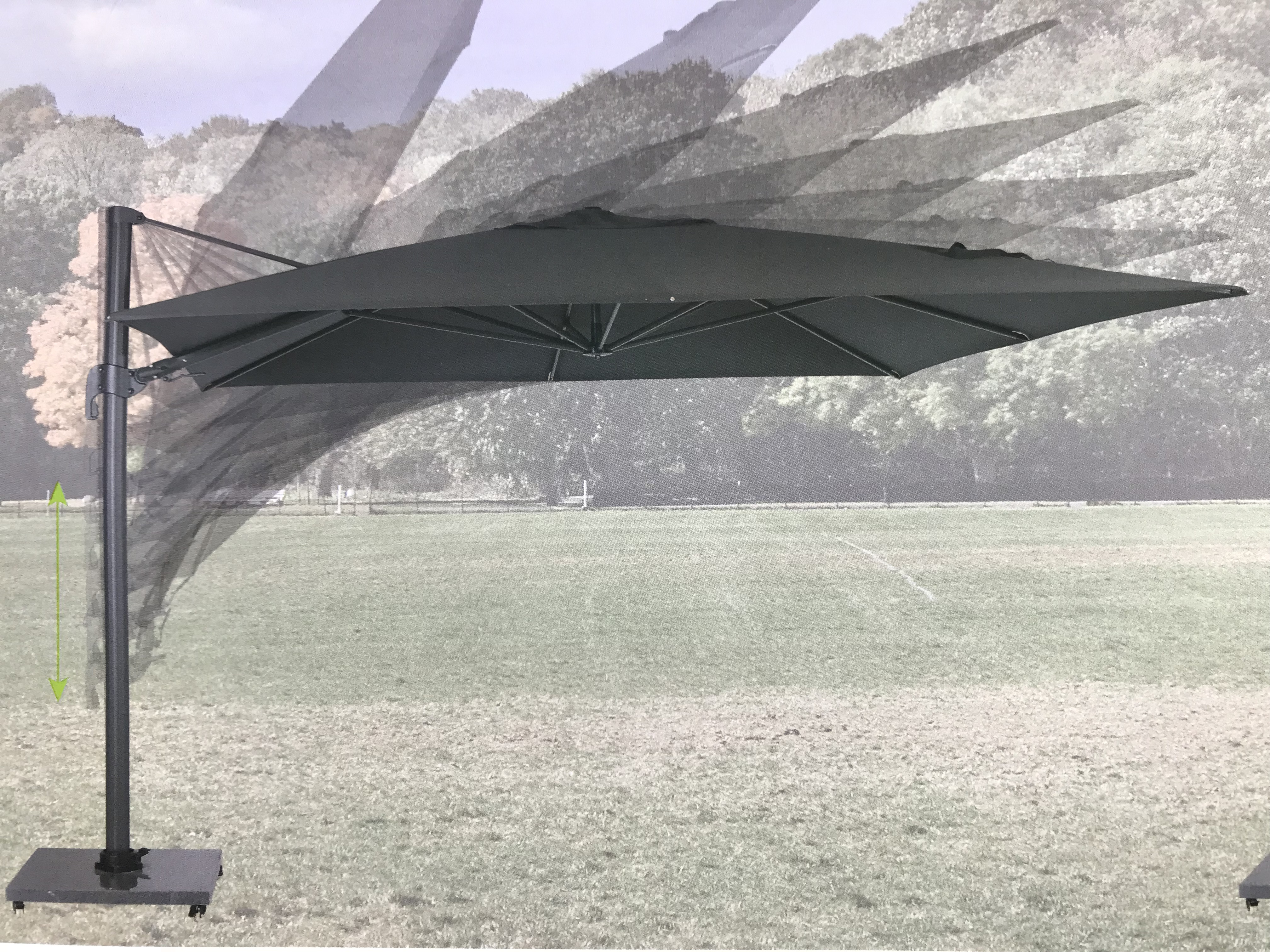 Hawaii Parasol Zwaar Frame 35 X 35 M Ook Op Voorraad 3 X 4 M De